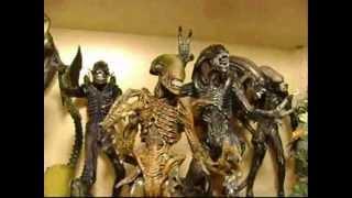 Alien vs Predator Action Figure Collection.