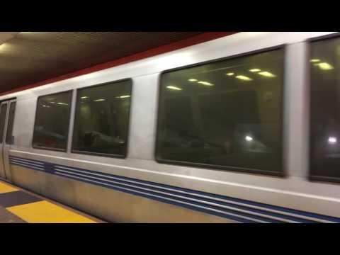 BART Powell Street Station San Francisco California Bay Area Rapid Transit (Slow Motion)