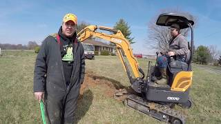 DIY Water Line Install Using Case CX17C Mini-Excavator; Rural House Upgrades to City Water