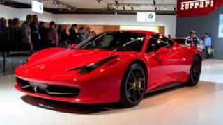 AutoRAI 2011: Ferrari FF, 458 Italia, 599GTB & California @ Ferrari stand  [720P HD]