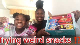 Trying across the world snacks