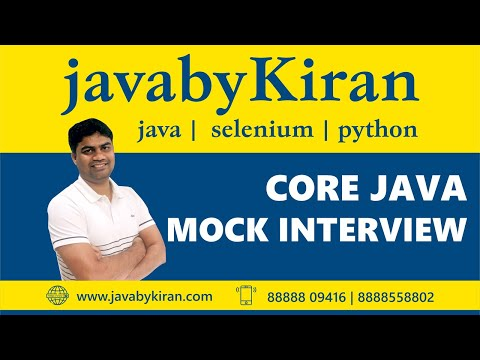 Interview Session For Beginners-By Kiran Sir-JAVA By Kiran,Pune