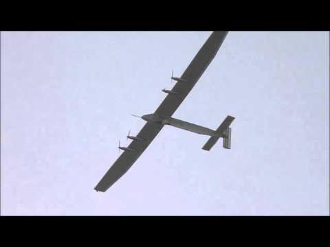 Solar Impulse over Muscat - Start of 2nd leg