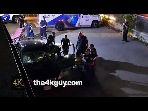 North York: Two shot up men sitting in bullet riddled car 8-20-2015