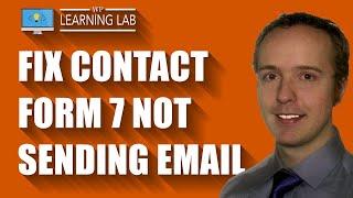 FIXED Contact Form 7 Not Sending Email | Contact Form 7 Tutorials Part 15
