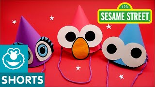 Sesame Street: How to Make Party Hats! | DIY