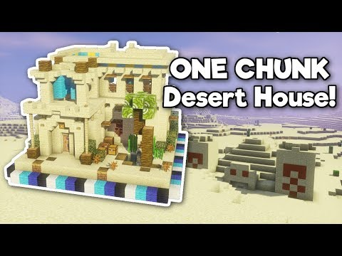 Minecraft: Desert House in ONE CHUNK! [Tutorial]