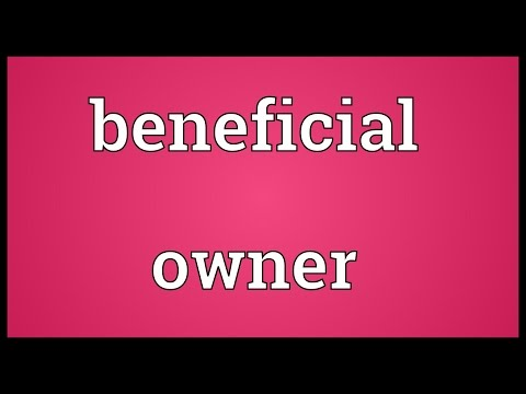 Beneficial owner Meaning