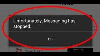 how to fix unfortunately messaging has stopped in android