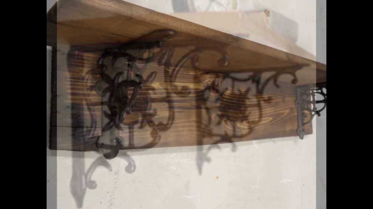 wood co hanging decor metal brackets tulum shelf smsender modern decorative