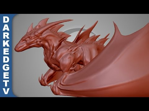Playing with Sculptris #7 - Bull Sun Wyvern (Part 1)