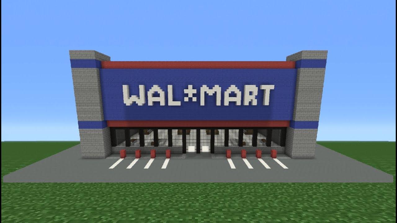Minecraft Tutorial: How To Make Walmart - YouTube