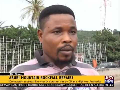Aburi Mountain Rockfall Repairs - AM News on JoyNews (10-7-17)