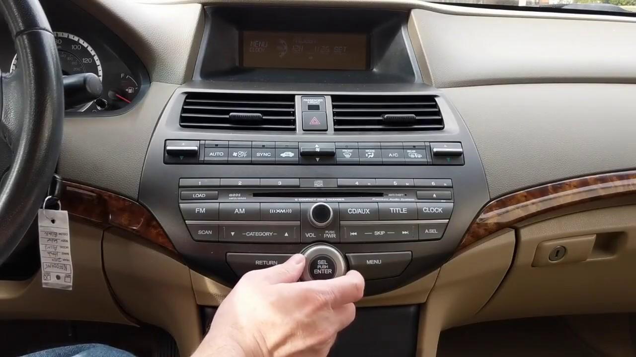 How To Enter Honda Radio Code >> 2010 Honda Accord Retrieving And Entering Radio Security Code