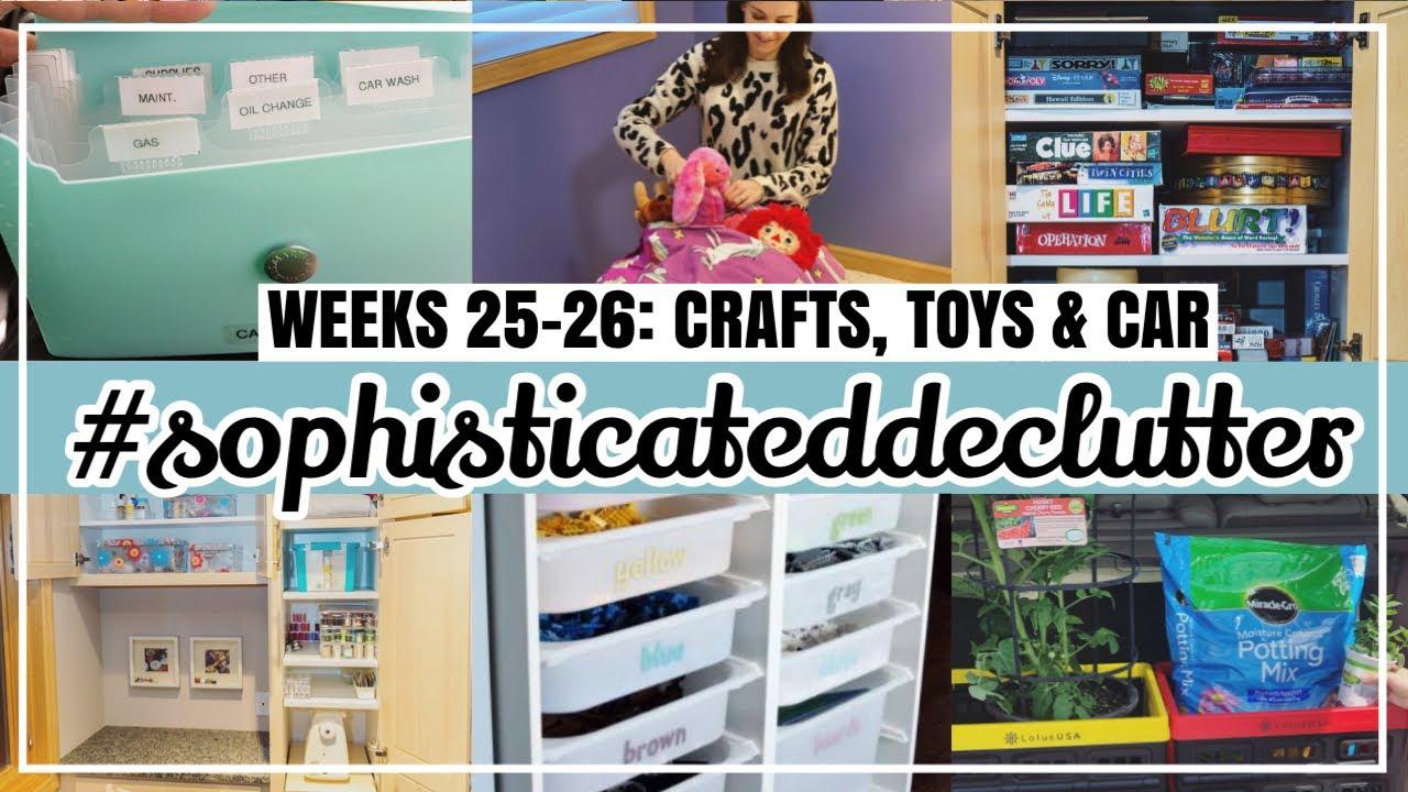 CRAFT & TOY ROOM DECLUTTER // #sophisticateddeclutter Weeks 25-26 + How to Declutter Your Car