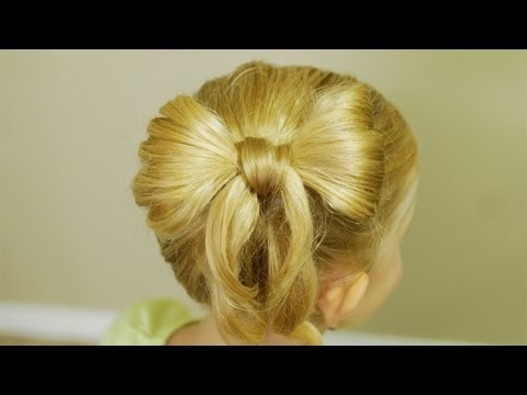 How to make Bow Hair // Back-To-School Hairdo Tutorial // Natural Hairstyles