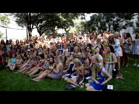 University of Texas Tri Delta Bid Day 2015