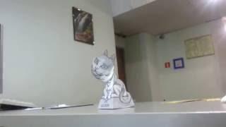 3D кот из бумаги. Оригами 3D