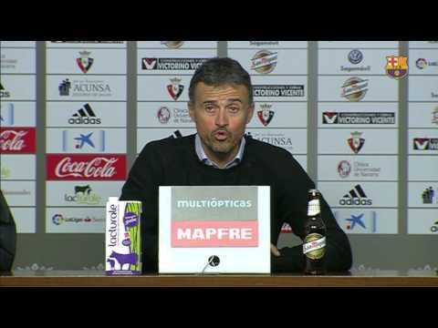 """Luis Enrique: """"Estoy muy satisfecho con el partido"""""""