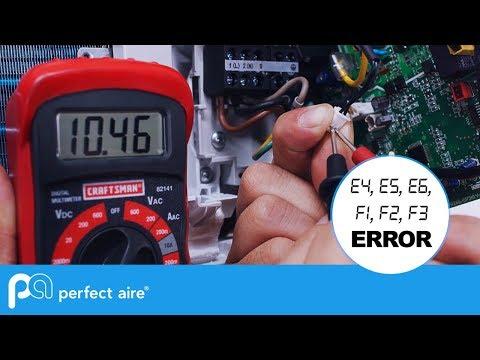 AIR CONDITIONER Troubleshooting E4,E5,E6,F1,F2,F3 Error