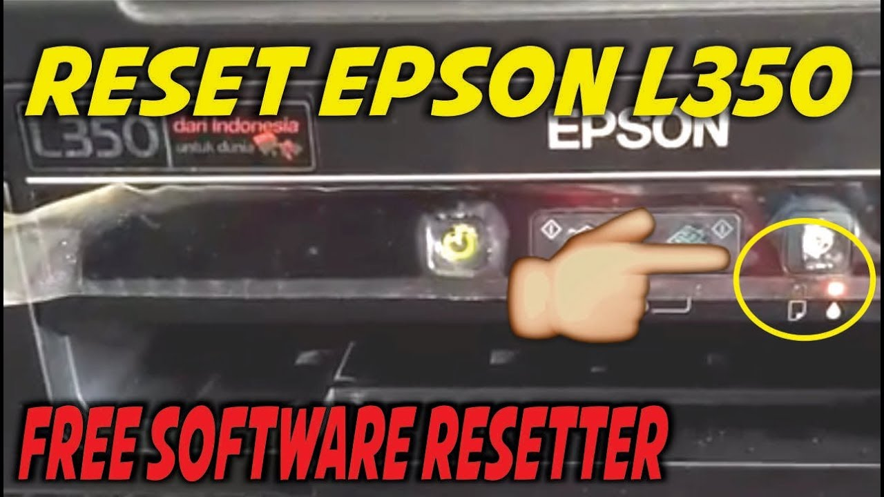 Reset Epson L350 Service Required Blink Error Free Resetter Youtube
