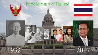 Prime Ministers of Thailand
