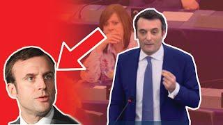 FLORIAN PHILIPPOT FACE À EMMANUEL MACRON AU PARLEMENT EUROPÉEN