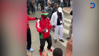 Jackson Mandago leads a team of Kenyans In Vienna  as they cheer Eliud Kipchoge