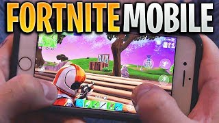 FORTNITE MOBILE GAMEPLAY!! (Playing Fortnite Battle Royale on iOS Mobile Game)
