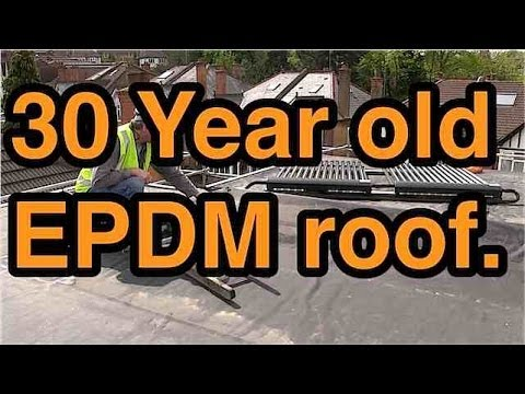 30 Year Old Epdm Rubber Flat Roof Youtube