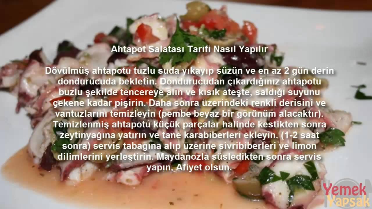 AHTAPOTLU SALATA TARİFİ