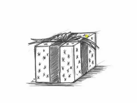 how to draw a christmas present draw a birthday present mat