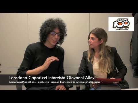 Loredana Caporizzi intervista Giovanni Allevi - Radio Canale 100 Bari