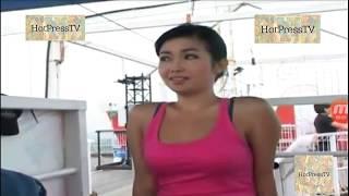 Rinrin Marinka Pink Tanktop Seksi Banget main Bungee Jumping