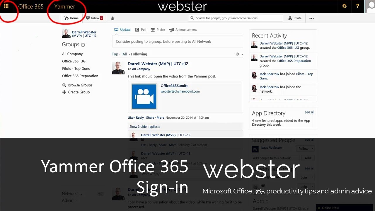 Yammer office 365 sign in youtube - Yammer office 365 integration ...