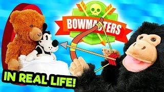 LP Movie: Plushies Play BOWMASTERS in REAL LIFE!🏹...