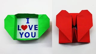 Origami Heart Box | How to Make a Heart Shaped Gift Box DIY Valentine Gift Ideas | Paper Craft