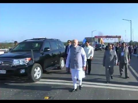 PM Narendra Modi at Bogibeel, India's longest rail-cum-road bridge
