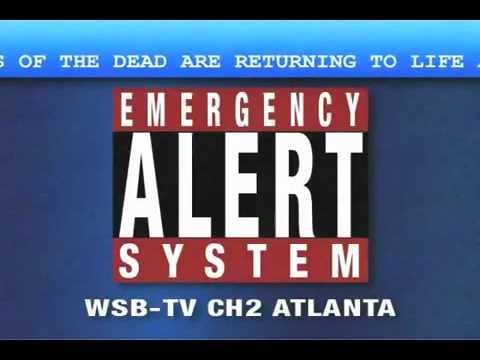 Zombie Emergency Broadcast Alert System Warning