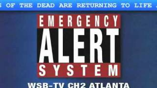 Zombie Emergency Broadcast Alert System Warning