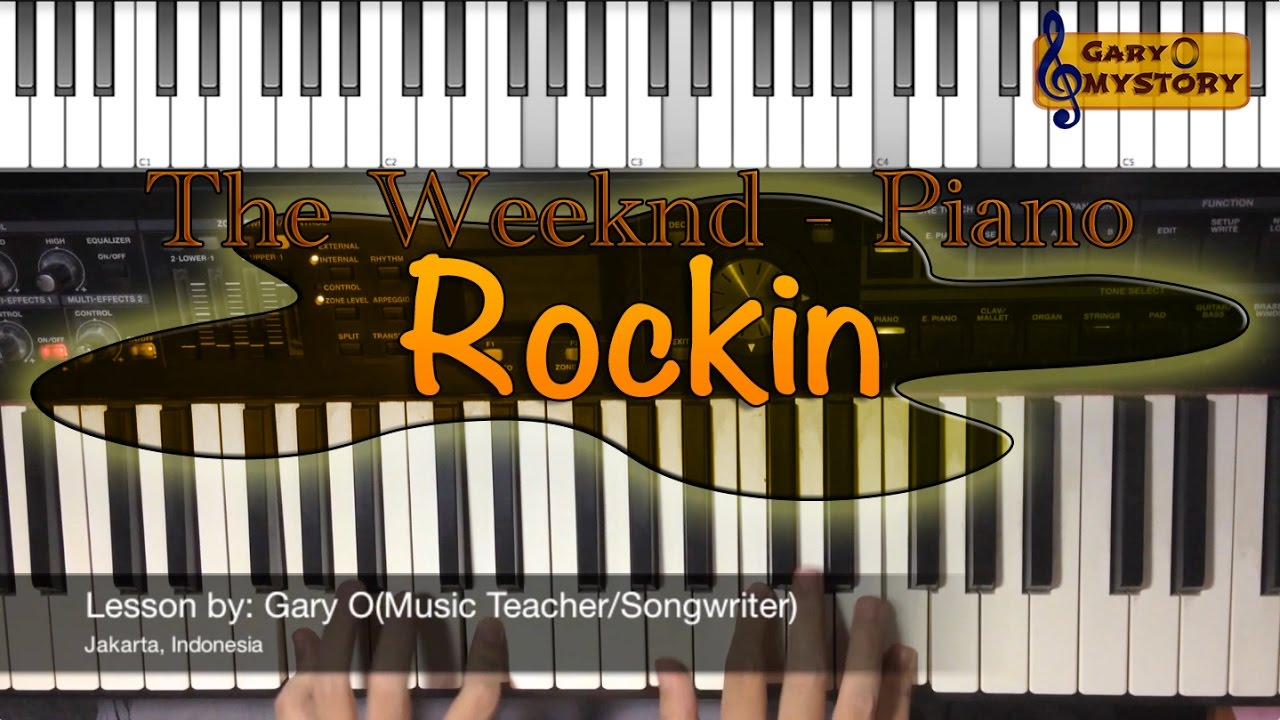 The Weeknd - Rockin Easy Piano Tutorial/Keyboard Lesson FREE Sheet Music  NEW Song Cover 2016