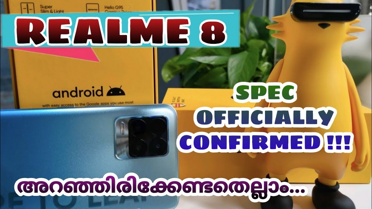 Realme 8 Spec Officially Confirmed | Features Review Specification Price Launch Date | Malayalam