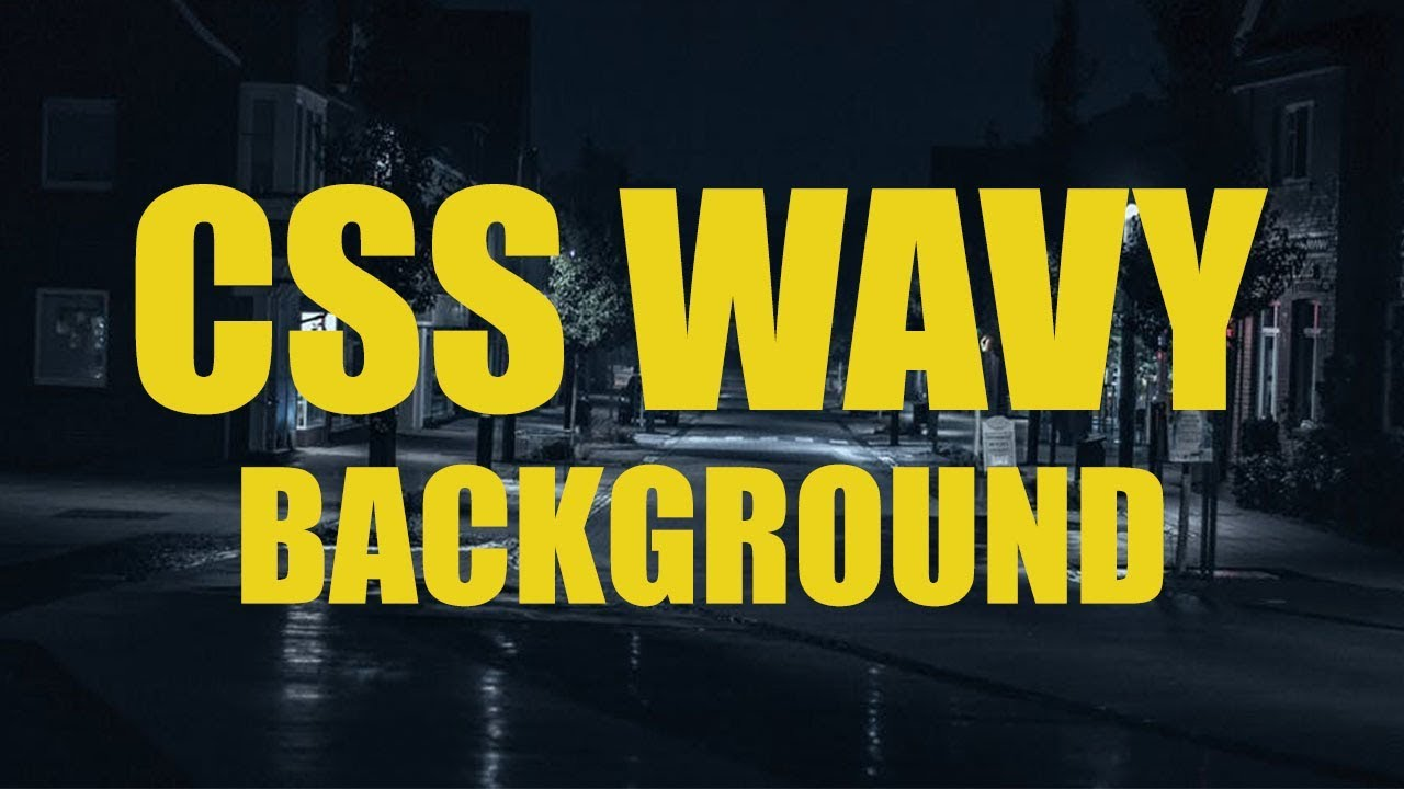 How to Create Wavy Background Using HTML 5 / CSS 3 / NO SVG / Website Design #1