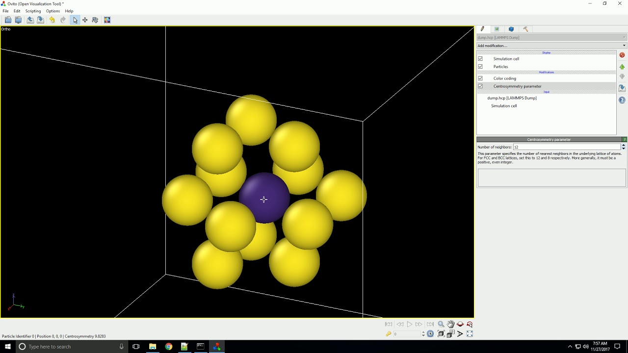 OVITO Modifiers for Crystal Structures
