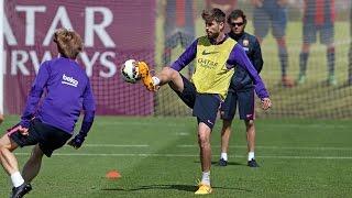 FC Barcelona: last training session before Getafe