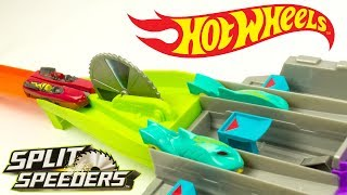 Hot Wheels Split Speeders Blade Raid Trackset Cars cut in Half Toy Review