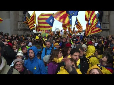 Huge Catalan march in Brussels to
