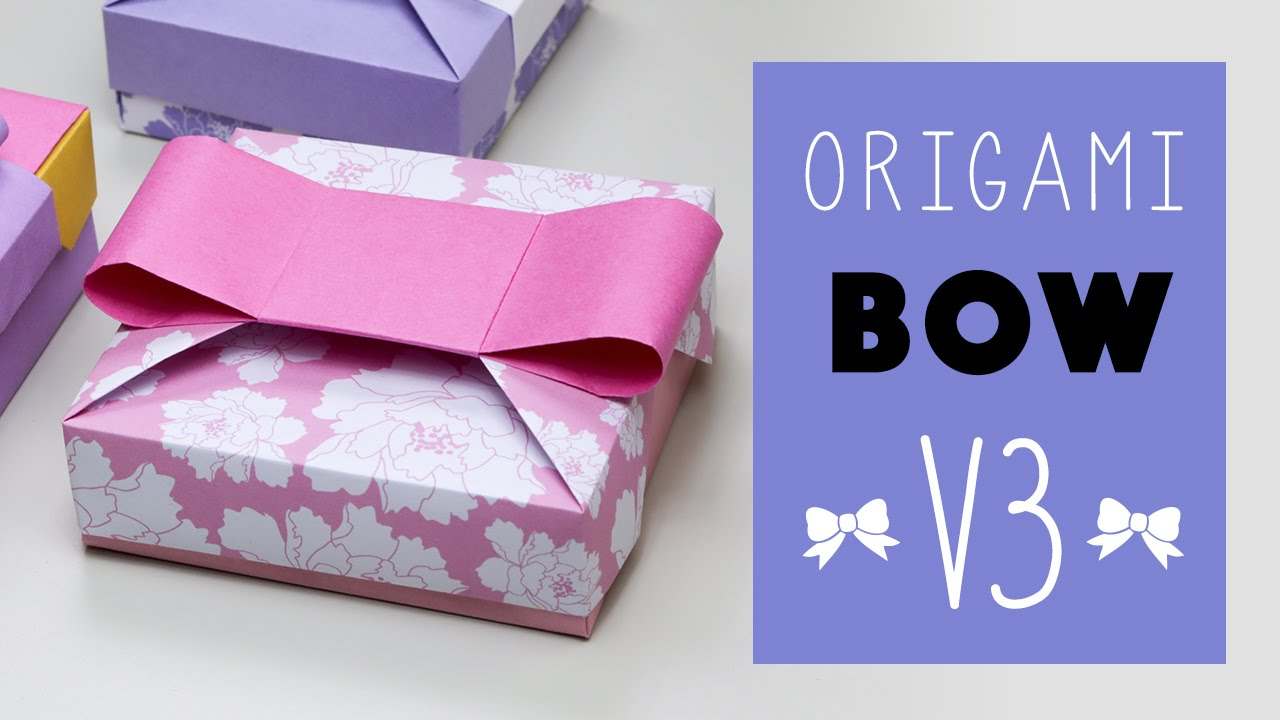 Origami Bow V3 for Mix & Match Gift Box ♥ Tutorial ♥ DIY ...