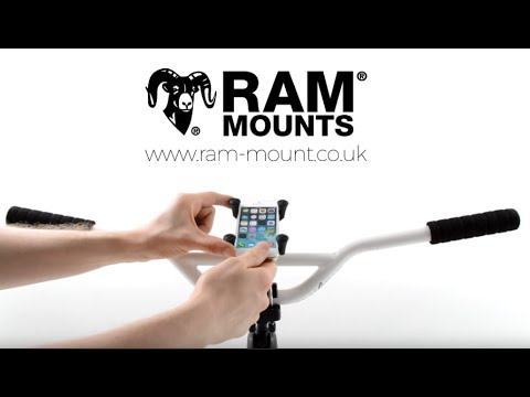 3d899120c08c43 The X-Grip EZ-On/Off™ Bicycle Phone Mount. RAM Mount UK