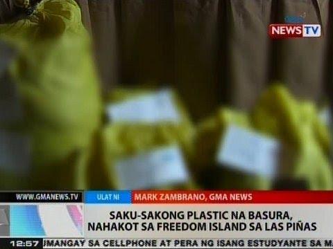 BT: Saku-sakong plastic na basura, nahakot sa Freedom Island sa Las Piñas